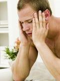 Hombre deprimido Imagen de archivo