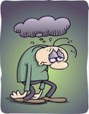 Hombre deprimido Fotos de archivo