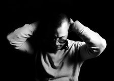Hombre deprimido Foto de archivo libre de regalías