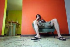 Hombre desapasible Fotos de archivo libres de regalías