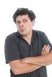 Hombre desconcertado Imagenes de archivo