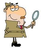 Hombre detective ilustración del vector