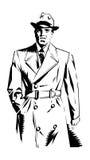Hombre detective Imagen de archivo libre de regalías