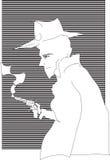 Hombre detective Fotos de archivo
