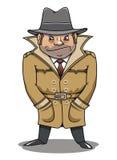 Hombre detective del agente o del espía stock de ilustración