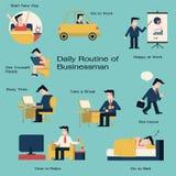 Hombre diario ilustración del vector