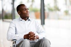 Hombre discapacitado pensativo Imágenes de archivo libres de regalías