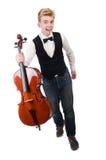 Hombre divertido con el violín Imagen de archivo