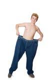 Hombre divertido con los pantalones Imagen de archivo libre de regalías