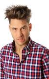 Hombre divertido de la cara Fotografía de archivo libre de regalías