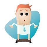 Hombre divertido de la historieta con los pantalones caídos ilustración del vector