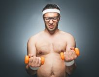Hombre divertido de los deportes Fotos de archivo libres de regalías