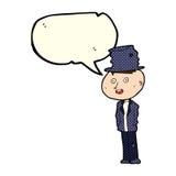 hombre divertido del hobo de la historieta con la burbuja del discurso libre illustration