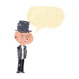hombre divertido del hobo de la historieta con la burbuja del discurso ilustración del vector