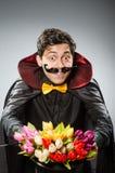 Hombre divertido del mago Imagen de archivo libre de regalías