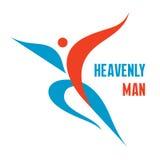Hombre divino - vector Logo Design Foto de archivo