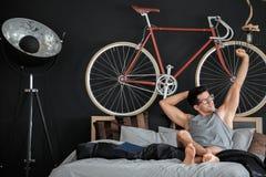 Hombre durante tiempo libre Fotos de archivo libres de regalías