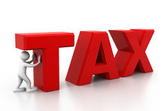 Hombre e impuesto Imágenes de archivo libres de regalías
