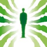 hombre ecológico (vector) Imagen de archivo