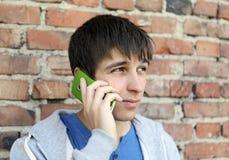 Hombre emocional del teléfono celular Imágenes de archivo libres de regalías