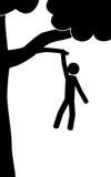Hombre en árbol Imagen de archivo