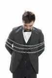 Hombre en cadenas Imagen de archivo