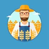 Hombre en campo de trigo libre illustration