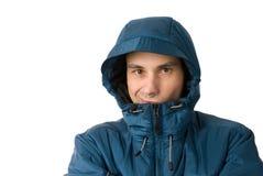 Hombre en capa del invierno Imagen de archivo libre de regalías