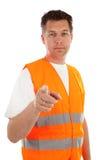Hombre en chaleco de la seguridad Fotos de archivo