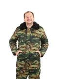 Hombre en chaleco de los militares Fotos de archivo libres de regalías