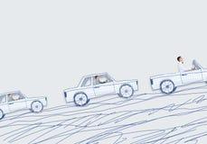 Hombre en coche Foto de archivo libre de regalías