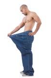 Hombre en concepto de dieta Imagen de archivo libre de regalías