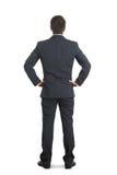 Hombre en desgaste formal sobre blanco Foto de archivo libre de regalías