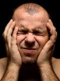 Hombre en dolor Imagen de archivo libre de regalías