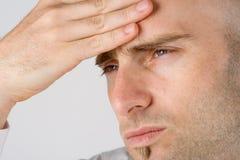 Hombre en dolor Foto de archivo libre de regalías
