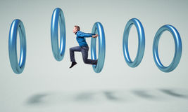Hombre en el anillo Imagen de archivo libre de regalías