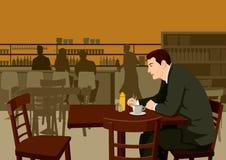 Hombre en el café Fotos de archivo libres de regalías