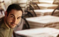 Hombre en el café Foto de archivo