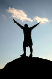 Hombre en el cielo Fotografía de archivo libre de regalías