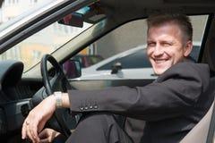 Hombre en el coche Imágenes de archivo libres de regalías