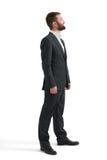Hombre en el desgaste formal que mira para arriba Imagen de archivo libre de regalías