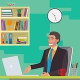 Hombre en el lugar de trabajo stock de ilustración