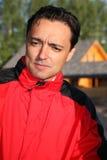 Hombre en el rojo Fotografía de archivo