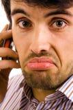 Hombre en el teléfono Imagen de archivo libre de regalías