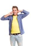 Hombre en el teléfono Imagen de archivo