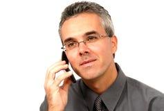 Hombre en el teléfono celular Fotos de archivo