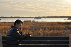 Hombre en el teléfono Foto de archivo libre de regalías