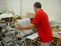 Hombre en el trabajo Imágenes de archivo libres de regalías