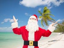 Hombre en el traje de Papá Noel Foto de archivo