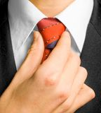 Hombre en juego y pañuelo. Imágenes de archivo libres de regalías